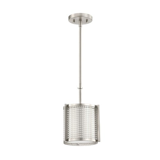 Kichler Lighting Perforated Collection 1-light Brushed Nickel Mini Pendant