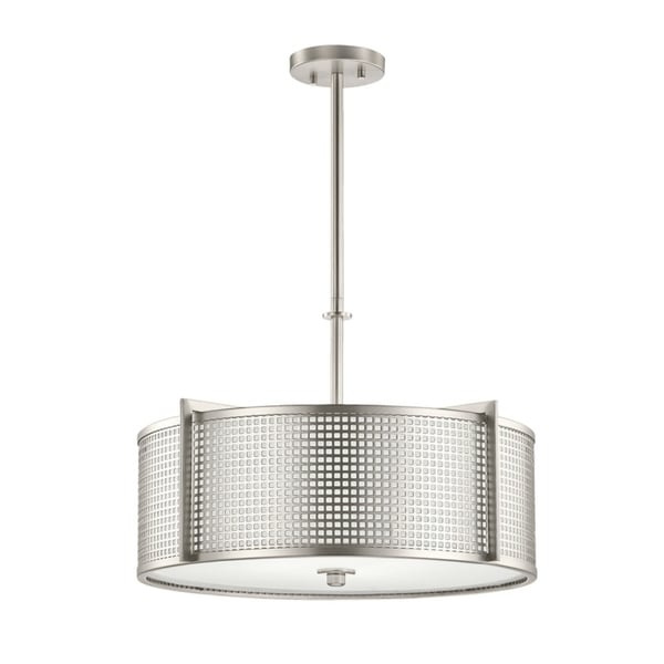 Kichler Lighting Perforated Collection 4-light Brushed Nickel Pendant