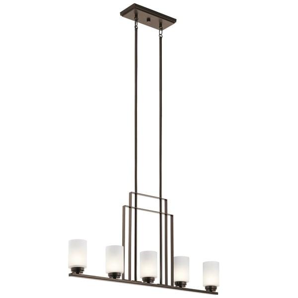 Kichler Lighting Harvey Collection 5-light Mission Bronze Halogen Linear Chandelier