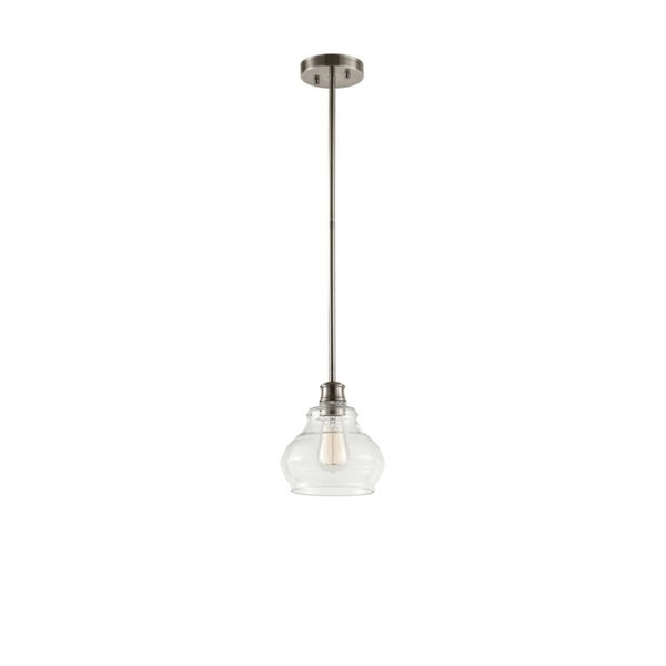 Kichler Lighting Schoolhouse Collection 1-light Classic Pewter Mini Pendant