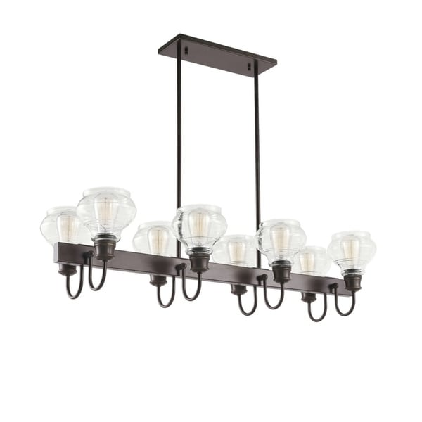 Kichler Lighting Schoolhouse Collection 8 Light Oil Rubbed Bronze Linear Chandelier