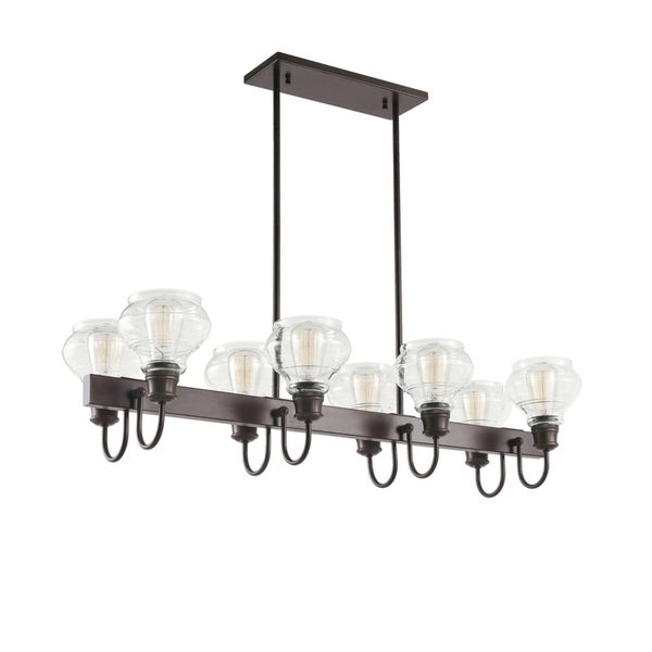 Kichler Lighting Schoolhouse Collection 8-light Oil Rubbed Bronze Linear Chandelier