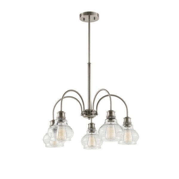 Kichler Lighting Schoolhouse Collection 5-light Classic Pewter Chandelier