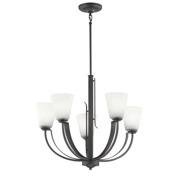 Kichler Lighting Lodge Collection 5-light Anvil Iron Chandelier