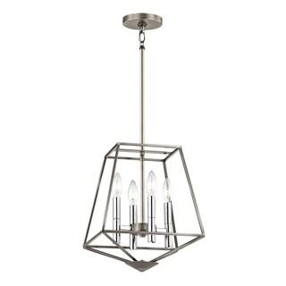 Kichler Lighting Geometric Collection 4-light Classic Pewter Foyer Pendant