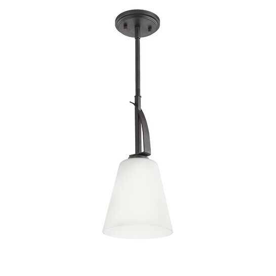 Kichler Lighting Lodge Collection 1-light Anvil Iron Mini Pendant