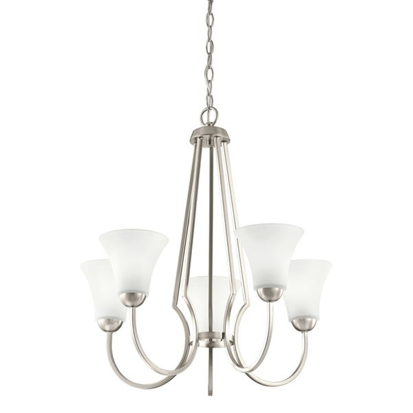 Kichler Lighting Transitional 5-light Brushed Nickel Chandelier