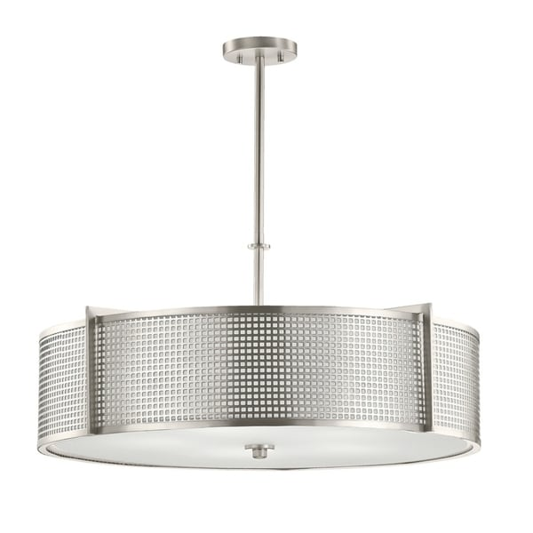 Kichler Lighting Perforated Collection 5-light Brushed Nickel Pendant