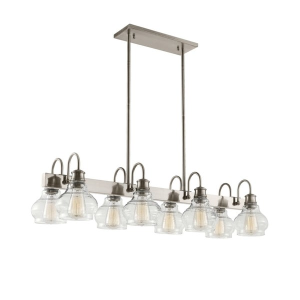Kichler Lighting Schoolhouse Collection 8-light Classic Pewter Linear Chandelier