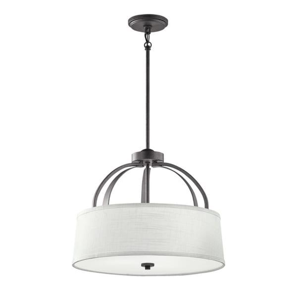 Kichler Lighting Lodge Collection 3-light Anvil Iron Pendant/Semi-Flush Mount