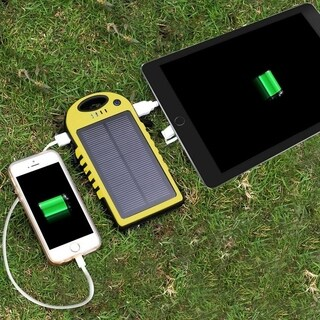 Waterproof 5000mAh Solar Charger with Flashlight