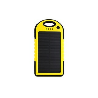 Waterproof 5000mAh Solar Charger with Flashlight (Option: Yellow)