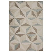 LR Home Tranquility Green and Light Blue Indoor Runner Rug - 7'9 x 9'6