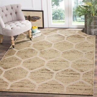 LR Home Tranquility Green and Grey Indoor Runner Rug (3'x5') - 3'6 x 5'13