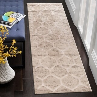 "LR Home Tranquility Green and Grey Indoor Runner Rug (7'9""x9'5"") - 2'1"" x 7'"