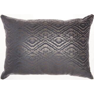 Mina Victory Luminecence Metallic Diamonds Throw Pillow by Nourison (14-Inch X 20-Inch)