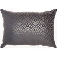 Mina Victory Luminecence Metallic Diamonds Throw Pillow by Nourison (14-Inch X 20-Inch)