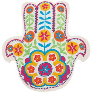 """Mina Victory Trendy, Hip, & New Age Hamsa Throw Pillow by Nourison (15"""" x 15"""") (3 options available)"""