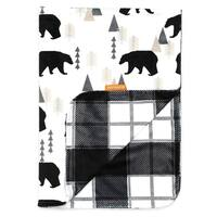 Black and Grey Plaid Baby Blankets