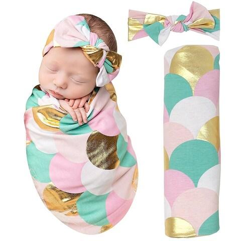 Mermaid Baby Swaddle Blanket