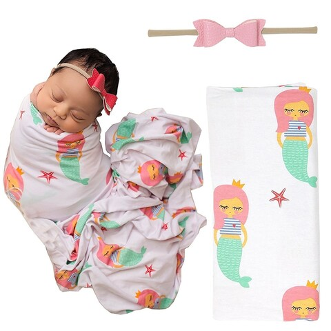 Mermaid Infant Swaddle Blanket