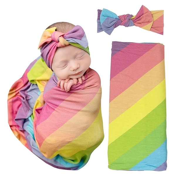 Shop Baby Swaddle Rainbow Blanket Free Shipping Today