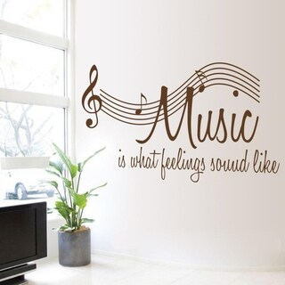 Music Is What Feelings Sound Like Music Wall Decal Vinyl