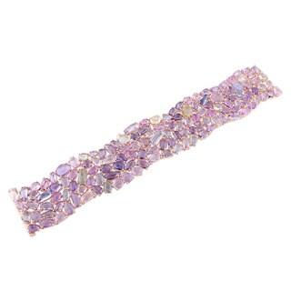 Miadora 14k Rose Gold Multi-color Sapphire Bracelet
