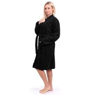 Turkuoise Terry Cloth Robe 100% Premium Turkish Cotton Terry Kimono Collar