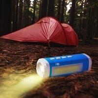 Solar Powered Bluetooth Speaker with Flash