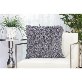 Mina Victory Curly Lurex Shag Throw Pillow by Nourison (20-Inch X 20-Inch)