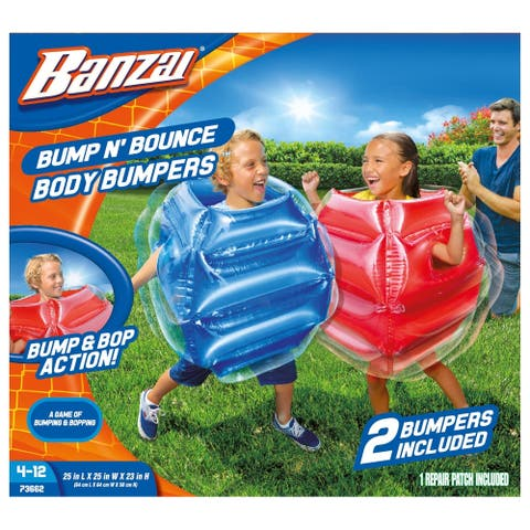 Banzai Kids Bump N' Bounce Body Bumpers - 2 Bumpers Included