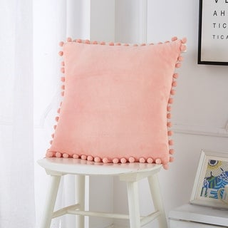 Urban Shop Pom Pom Decorative Pillow