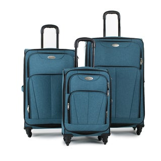 Argo Sport Heather 3-piece Expandable Spinner Luggage Set