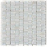Clio Mosaics 1 X Random Mosaic Glass and Stone Tile in Luna - 12x12
