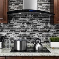 AKDY RH0273 36 in. Wall Mount Range Hood in Stainless Steel with Touch Control and Carbon Filters