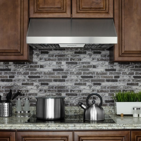 "Restaurant Kitchen Without Hood: Shop AKDY 36"" Under Cabinet Stainless Steel Push Button"