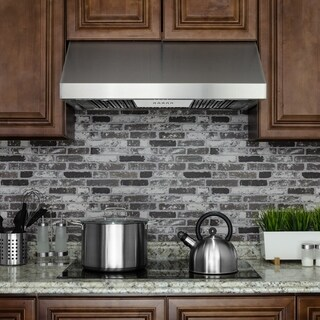 "AKDY 36"" Under Cabinet Stainless Steel Push Button Kitchen Range Hood Cooking Fan"