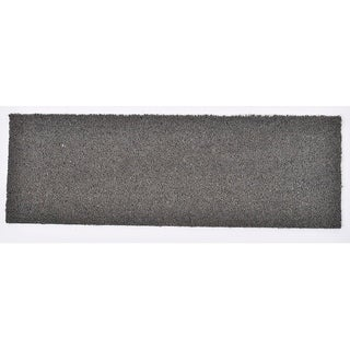 Evideco Sheltered Large Front Door Mat Coir Coco Fibers Rug 30x10 Inch Grey