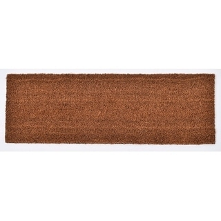 Evideco Sheltered Large Front Door Mat Coir Coco Fibers Rug 30x10 Inch Natural