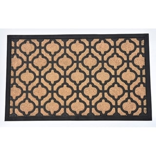 Evideco Sheltered Front Door Mat Riad Polyester Rug 24x16 Inch