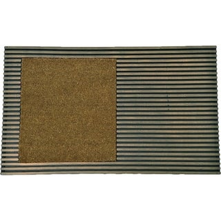 Evideco Sheltered Front Door Mat Bill Coir Coco Rubber 30x18 Inch Green Bronze