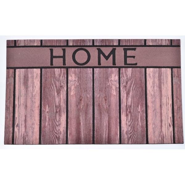 Evideco Outdoor Front Door Mat Home Rubber Rug 30x18 Inch Brown