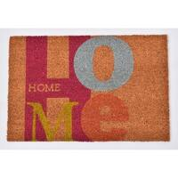 Evideco Sheltered Printed Front Door Mat Home Coir Coco Fibers Rug 24x16 Inch Natural