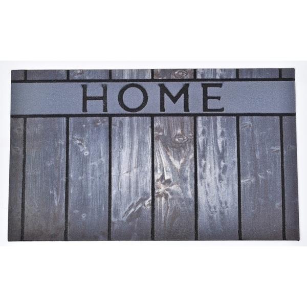 Evideco Outdoor Front Door Mat Home Rubber Rug 30x18 Inch Grey