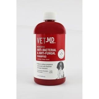 2-Pack VetMD Medicated Anti-Bacterial & Anti-Fungal Shampoo