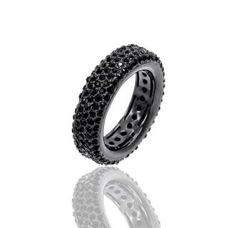 Crystal Pave Eternity Ring - Black