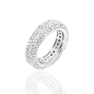 Crystal Pave Eternity Ring - White