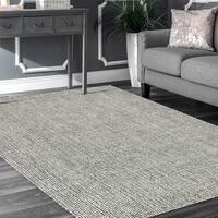 LR Home Criss Cross Grey Indoor Area Rug - 5' x 7'9