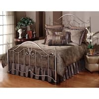 Hillsdale Doheny Pewter Metal Queen Bed Set (Rails Not Included)